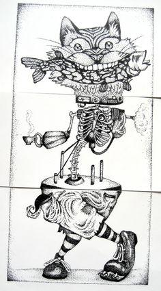 exquisit corpse. http://animalsleepstories.blogspot.com/2012/07/exquisite-corpse-drawings.html