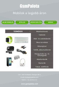 GsmPalota - Mobilok a legjobb áron  Mobiltelefonok és tableteken kívül a képen látható termékek, kiegészítők online értékesítésével foglalkozunk. A részletekért tájékozódjon honlapunkon!   http://gsmpalota.com/