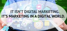 People often talk about digital marketing as though it is a silo – different from the rest of marketing. They think in terms of channels when building a marketing plan – building the plan for television, print, radio and then of course digital. The challenge is that we aren't doing traditional marketing and digital marketing. …