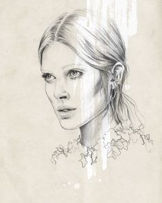 This facial structure is great, especially the hooked/roman nose. Rowena is not this thin.  Iselin Chloe by Esra Røise. An intelligent grown-up woman. She's successful, gorgeous and strong. This is what I see on this drawing.