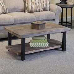 Alaterre Pomona Reclaimed Wood and Metal 42-inch Coffee Table | Overstock.com Shopping - The Best Deals on Coffee, Sofa & End Tables #palletcoffeetables