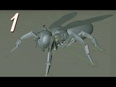 Cinema 4D Tutorials Robot Wasp Modeling & Rigging part 1 - YouTube