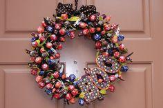 tootsie roll pop wreath