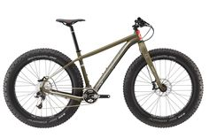 With a premium lefty fork, drivetrain and system integrated technology, the Fat CAAD 1 has all the fun, floaty traction of a fat bike plus the heart and soul of a racer. Available at REI, Satisfaction Guaranteed. Cannondale Bikes, Hardtail Mtb, Beast Of The East, Road Bike Women, Fat Bike, Good Fats, Mountain Biking, Green Clay, Sport