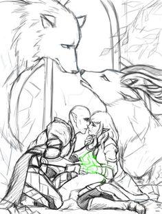 hamydinh:  Keep reading | Solas and Lavellan romance, Solavellan, Dragon Age: Inquisition