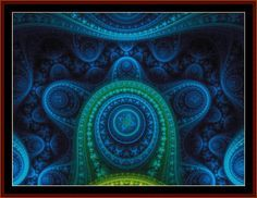 FR-266 - Fractal 266 - All cross stitch patterns - - Abstract - Fractals - Graphic Art - Whimsical - Cross Stitch Collectibles