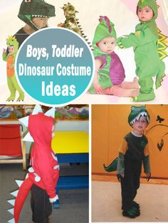 Toddler, Boys Dinosaur Costume Ideas #diy #costumes #halloween DIY Halloween costume for kids