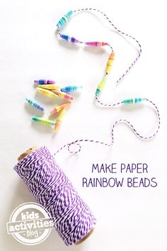How to make these gorgeous rainbow paper beads.