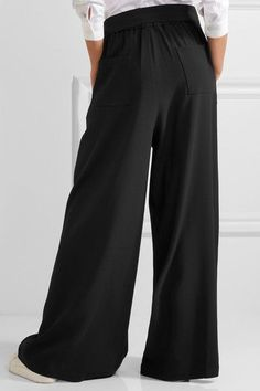 TOME - Crepe Wide-leg Pants - Black - large