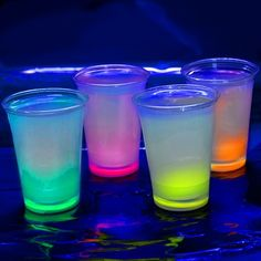 glow cups: attach small glow bracelets to bottoms of plastic cups