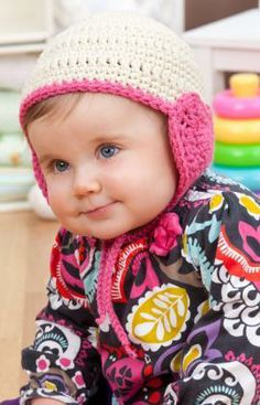 Lovey Hat for Baby Free Crochet Pattern from Red Heart Yarns