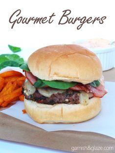 Gourmet Burgers - Garnish & Glaze