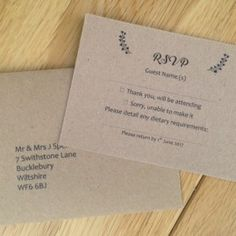 Vintage RSVP cards to match our Vintage Wedding Invitations and Wedding Stationery. RSVP cards and envelopes from UK Printing Company. Vintage Wedding Stationery, Daisy Chain, Rsvp, Wedding Inspiration, Cards Against Humanity, Envelopes, Range, Cookers