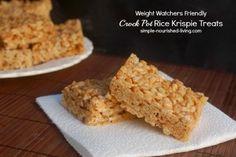 Crock Pot Rice Krispie Treats   Weight Watchers Friendly Recipes   4 PointsPlus #weightwatchers #crockpot