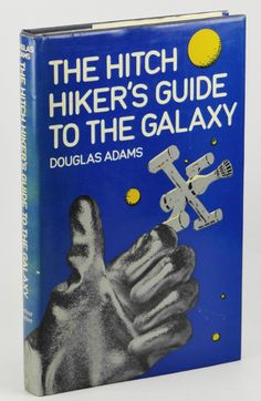 First UK Edition of the Hitchhiker's Guide to the Galaxy. Published by Arthur Baker in London, 1979