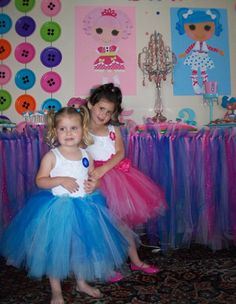 Lalaloopsy Birthday Party Tutu/button dresses
