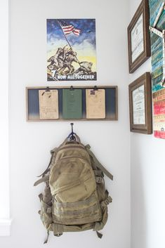 Industrial Military Office Reveal | blesserhouse.com - An masculine office makeover using lots of DIYs and thrift finds. Awesome space for a…
