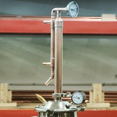 8 Gallon Copper Column / Condenser Does not include thermometer, pressure gauge, tri-clamps or gaskets.
