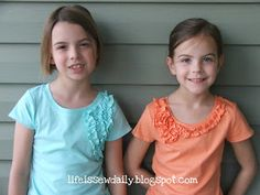 Life is {Sew} Daily: Kids' Ruffled T-Shirts {Tutorial}