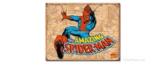Spiderman Retro Panels Tin Sign