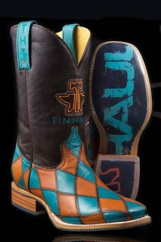 Men's Cowboy Boots Tin Haul Tan Diamond Plated | Tin haul and ...