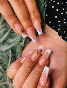 French Tip Acrylic Nails, Acrylic Nails Coffin Short, Simple Acrylic Nails, Pink Acrylic Nails, French Tip Nail Art, Acrylic Nails For Fall, White Tip Nails, Clear Acrylic, Grunge Nails