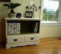 Turn a dresser into a bookcase