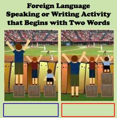 Foreign Language Speaking or Writing Activity that Begins with Two Words