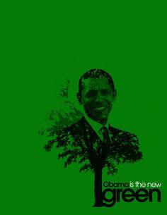 Adam C. Morse. OBAMA IS THE NEW GREEN. Bienal del Cartel Bolivia BICeBé® 2013