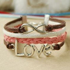 Infinity Bracelet-LOVE Bracelet - all bracelets connected with one clasp