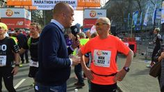 Oudste deelnemer marathon Rotterdam loopt persoonlijk record | NOS