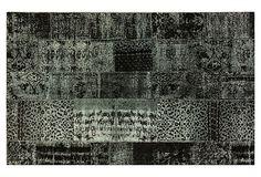 5'x8' Pisa Overdyed Rug, Charcoal/Mint on OneKingsLane.com