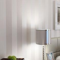 Minimalist wallpaper modern wallcovering stripe wall paper glitter non-woven background wall wallpaper for living room silver