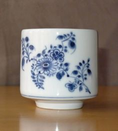 Unusual Hand Decorated Royal Copenhagen  / Yunomi 1358