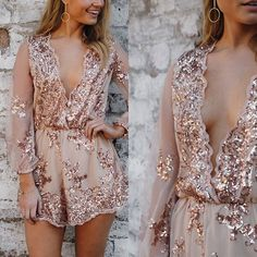Our gorgeous Langley sequin playsuit in rose gold ✨ $99.95  #estherboutique #sequin #fashion