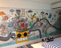 Parede grafitada dá personalidade ao quarto de crianças e de adolescentes - Gravidez e Filhos - UOL Mulher