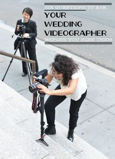 6 Questions to Ask Your Wedding Videographer Before You Hire Them