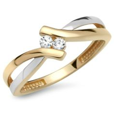 Unique Gelb- & Weißgoldring mit Zirkonia #gold #diamond #silver #beautiful  #ring  #jewelry #schmuck
