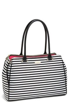 Striped tote. i'm in love! #katespade