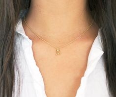 Gold Ant Necklace, Dainty Gold Necklace, Insect Necklace by MoiraMackenzieDesign on Etsy