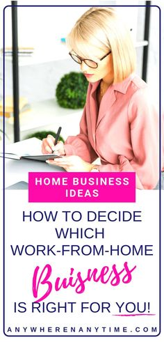 Interested in starting a work-at-home business but have no idea where to start? Take these 7 steps figure out your innate skillset and what home business idea is best for you! Work From Home Business, Online Work From Home, Fifth Business, Work From Home Tips, Starting A Business, Make Money From Home, Business Tips, Make Money Online, Online Business