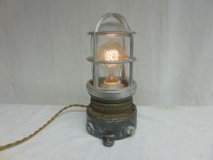 VINTAGE INDUSTRIAL  Explosion Proof TABLE LIGHT Appleton TOUCH Feature STEAMPUNK