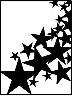 Free star background cut file - by Kristin L. #Silhouette #CutFile