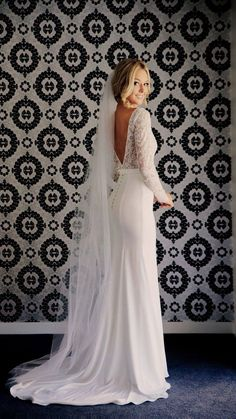 White bride dresses. All brides want to find themselves finding the perfect wedding, however for this they require the perfect wedding dress, with the bridesmaid's dresses enhancing the wedding brides dress. These are a few ideas on wedding dresses. #weddingdress Wedding Dress Tea Length, Custom Wedding Dress, Wedding Dresses For Sale, Wedding Dress Trends, Long Sleeve Wedding, Elegant Wedding Dress, Wedding Ideas, Modest Wedding, Lace Sleeve Wedding Dress