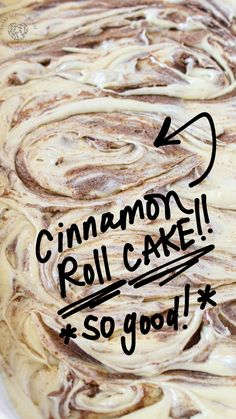 This Cinnamon Roll Cake is a cinnamon roll turned into an ooey-gooey cake with buttery cinnamon swirls! It is the perfect dessert for anyone who loves cinnamon rolls for breakfast! It is so easy to make and if a great dessert recipe for Fall. Try making this amazing cinnamon roll cake for your family today! #cinnamonroll #cake #recipes #desserts #cakerecipe Great Desserts, Dessert Recipes, Fall Recipes, My Recipes, Slow Cooker Recipes, Crockpot Recipes, One Pot Meals, Easy Meals, Ooey Gooey Cake