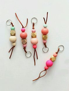 diy keychain for him & diy keychain _ diy keychain ideas _ diy keychain for him _ diy keychain for kids _ diy keychain easy _ diy keychain ideas how to make _ diy keychain beads _ diy keychain ideas easy Keychain Diy, Keychain Ideas, Handmade Keychains, Handmade Beads, Bijoux Diy, Spring Colors, Diy Projects To Try, Wood Projects, Wooden Beads
