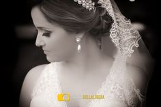 Noiva Leticia pronta, para troca de alianças, Casamento Piracicaba
