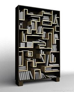 labyrinth bookshelf by Cyrill Drummerson from Russia