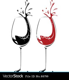 Cartoon Wine Glass Spilling Clip Art  Royalty Free Wine