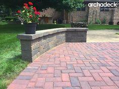 symmetrical seat wall ideas #2   slate patios   pinterest   wall ... - Stone Patio Wall Ideas